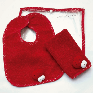Set de babita y babero rojo