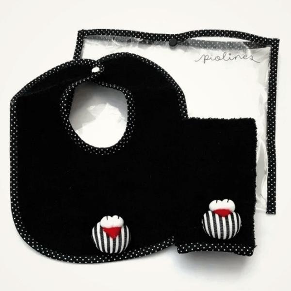 Set de babita y babero negro